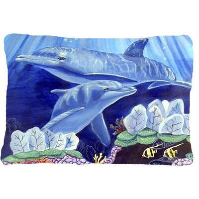 Dolphin Under The Sea Indoor/Outdoor Throw Pillow