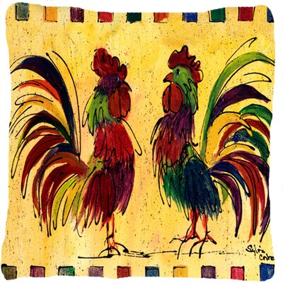 Rooster Indoor/Outdoor Throw Pillow
