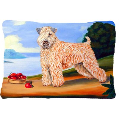 Wheaten Terrier Soft Coated Indoor/Outdoor Throw Pillow