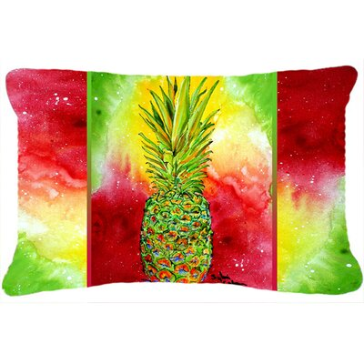 Amaryllis Pineapple Indoor/Outdoor Throw Pillow