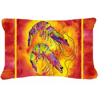 Bright Shrimp Indoor/Outdoor Throw Pillow
