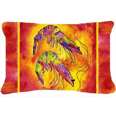 Bright Shrimp Indoor/Outdoor Throw Pillow