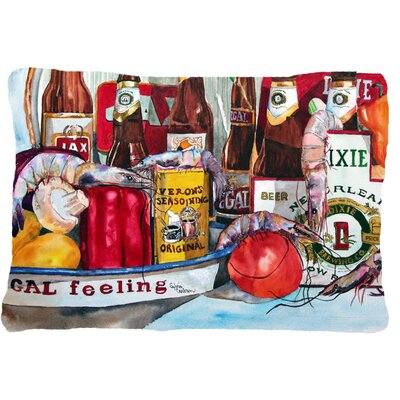 Verons and New Orleans Beers Indoor/Outdoor Throw Pillow