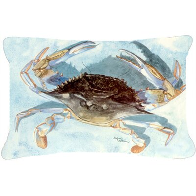 Burgett Blue Crab Indoor/Outdoor Throw Pillow