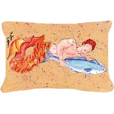 Merman Indoor/Outdoor Throw Pillow
