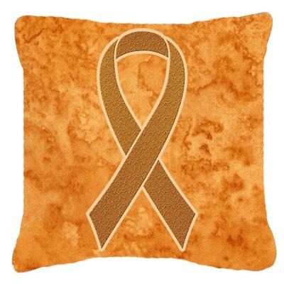 Ribbon for Leukemia Awareness Indoor/Outdoor Throw Pillow Size: 18 H x 18 W x 5.5 D