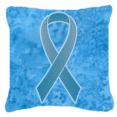 Ribbon for Prostate Cancer Awareness Indoor/Outdoor Throw Pillow Size: 14 H x 14 W x 4 D