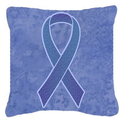 Ribbon for Esophageal and Stomach Cancer Awareness Indoor/Outdoor Throw Pillow Size: 14 H x 14 W x 4 D