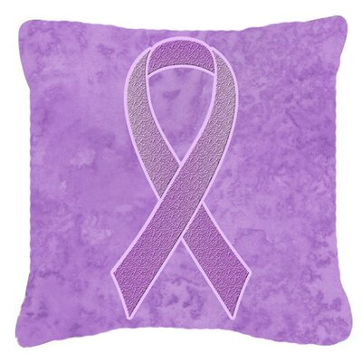 Ribbon for All Cancer Awareness Indoor/Outdoor Throw Pillow Size: 14 H x 14 W x 4 D