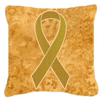 Ribbon for Childhood Cancers Awareness Indoor/Outdoor Throw Pillow Size: 14 H x 14 W x 4 D