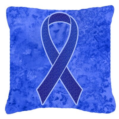 Ribbon for Colon Cancer Awareness Indoor/Outdoor Throw Pillow Size: 18