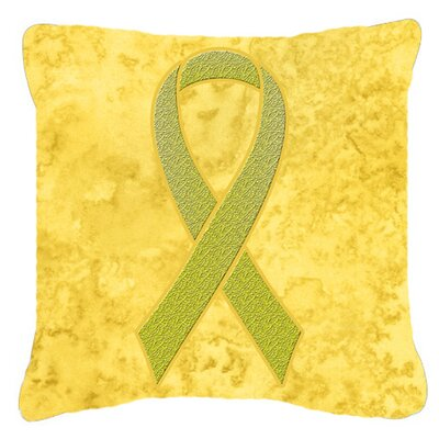 Ribbon for Sarcoma, Bone or Bladder Cancer Awareness Indoor/Outdoor Throw Pillow Size: 14 H x 14 W x 4 D