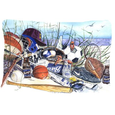 Sports on The Beach Indoor/Outdoor Throw Pillow