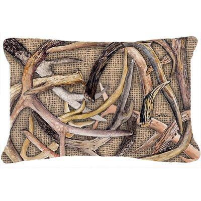 Deer Horns Indoor/Outdoor Throw Pillow