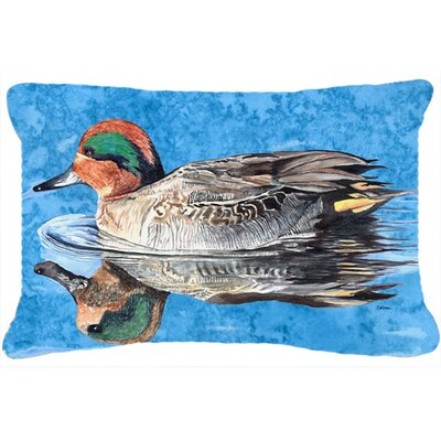 Teal Duck Indoor/Outdoor Throw Pillow