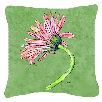 Gerber Daisy Pink Indoor/Outdoor Throw Pillow Size: 14 H x 14 W x 4 D