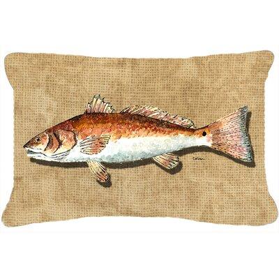 Red Fish Indoor/Outdoor Throw Pillow