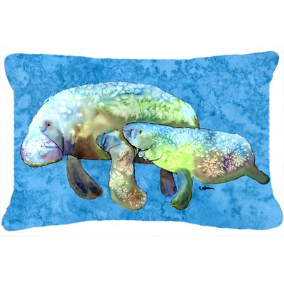 Manatee Indoor/Outdoor Throw Pillow