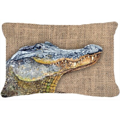 Alligator Brown/Gray Indoor/Outdoor Throw Pillow