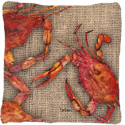 Burgett Crab Square Indoor/Outdoor Throw Pillow