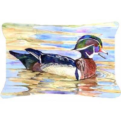 Wood Duck Indoor/Outdoor Throw Pillow