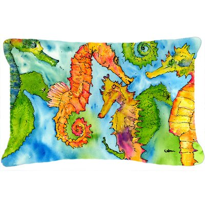 Sea Horse Indoor/Outdoor Throw Pillow