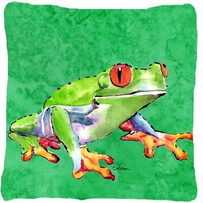 Frog Indoor/Outdoor Throw Pillow