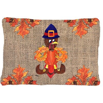 Thanksgiving Turkey Pilgrim Fleur De Lis Indoor/Outdoor Throw Pillow