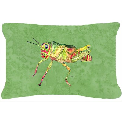 Grasshopper Contemporary Indoor/Outdoor Throw Pillow