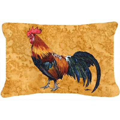 Jaiden Rooster Rectangular Indoor/Outdoor Throw Pillow