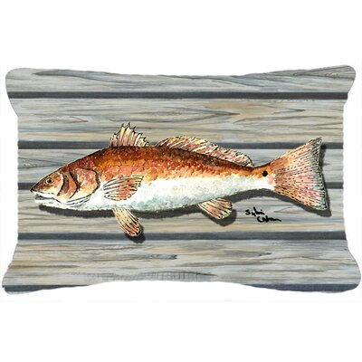 Red Fish Indoor/Outdoor Throw Pillow