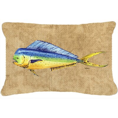 Dolphin Mahi Mahi Indoor/Outdoor Rectangular Throw Pillow