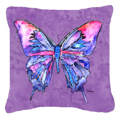 Butterfly Indoor/Outdoor Throw Pillow Color: Purple, Size: 14 H x 14 W x 4 D