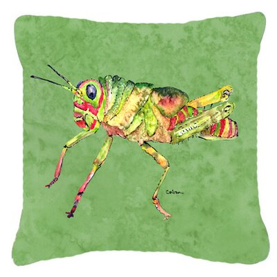 Grasshopper Square Indoor/Outdoor Throw Pillow Size: 14 H x 14 W x 4 D