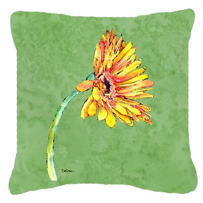 Gerber Daisy Indoor/Outdoor Throw Pillow Size: 18 H x 18 W x 5.5 D
