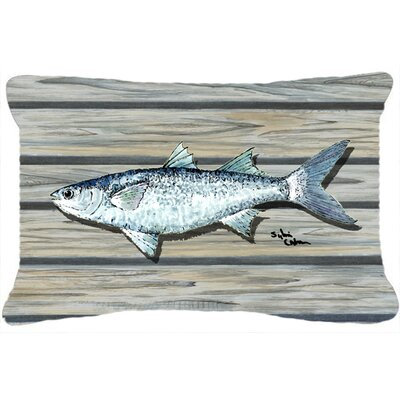 Fish Mullet Indoor/Outdoor Throw Pillow