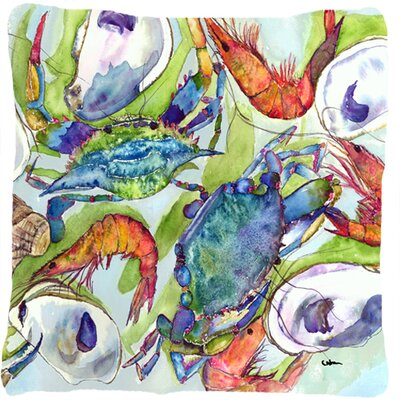 Crab Modern Square Indoor/Outdoor Throw Pillow