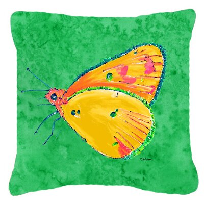 Butterfly Square Indoor/Outdoor Throw Pillow Size: 14 H x 14 W x 4 D