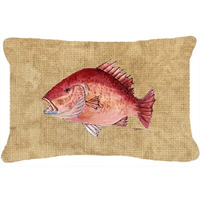Strawberry Snapper Indoor/Outdoor Throw Pillow
