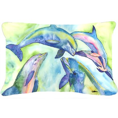 Dancing Dolphin Indoor/Outdoor Throw Pillow