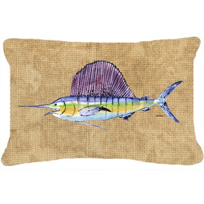 Swordfish Indoor/Outdoor Throw Pillow