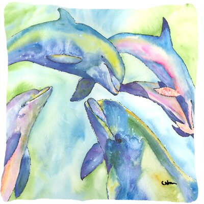 Dolphin Square Indoor/Outdoor Throw Pillow
