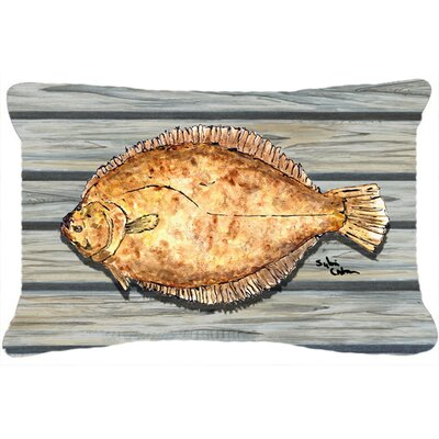 Fish Flounder Indoor/Outdoor Throw Pillow