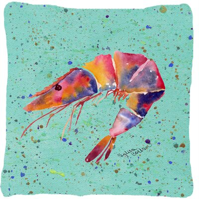 Shrimp Indoor/Outdoor Throw Pillow Color: Teal