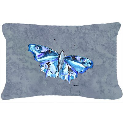 Butterfly Indoor/Outdoor Gray Throw Pillow