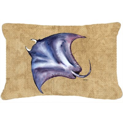 Unionville Stingray Indoor/Outdoor Throw Pillow