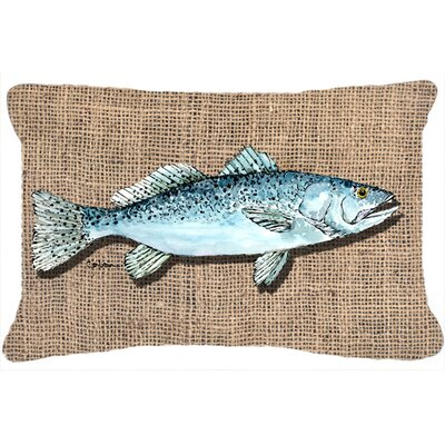Fish Speckled Trout Indoor/Outdoor Throw Pillow