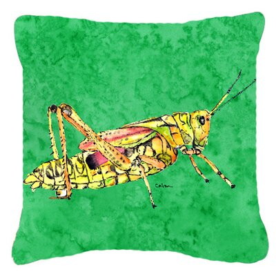 Grasshopper Indoor/Outdoor Green Throw Pillow Size: 18 H x 18 W x 5.5 D