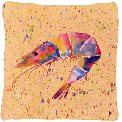 Shrimp Indoor/Outdoor Throw Pillow Color: Red/Tan