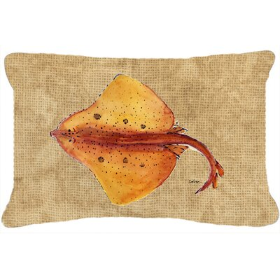 Blonde Ray Stingray Indoor/Outdoor Throw Pillow
